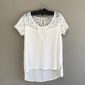 Cream White Lacey Dress Top